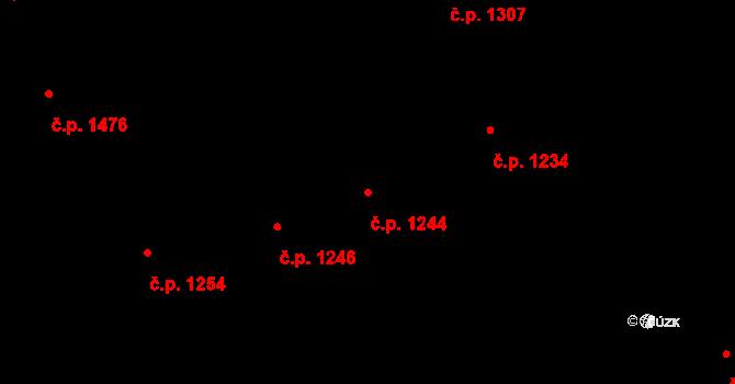 Žižkov 1244, Praha na parcele st. 1346 v KÚ Žižkov, Katastrální mapa