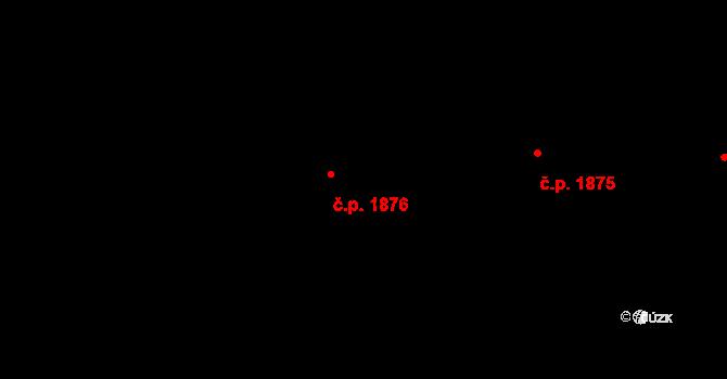 Bílé Předměstí 1876, Pardubice na parcele st. 11170 v KÚ Pardubice, Katastrální mapa