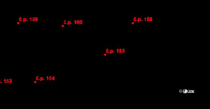 Studánka 155 na parcele st. 207 v KÚ Studánka u Tachova, Katastrální mapa