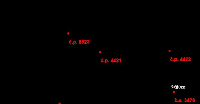Zlín 4421 na parcele st. 7119/1 v KÚ Zlín, Katastrální mapa