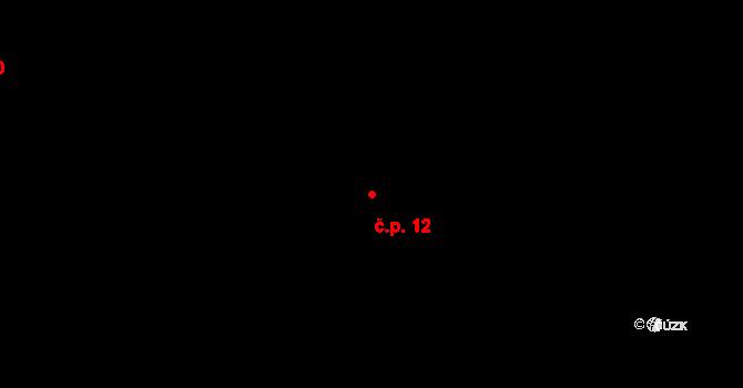 Koruna 12 na parcele st. 227 v KÚ Koruna, Katastrální mapa