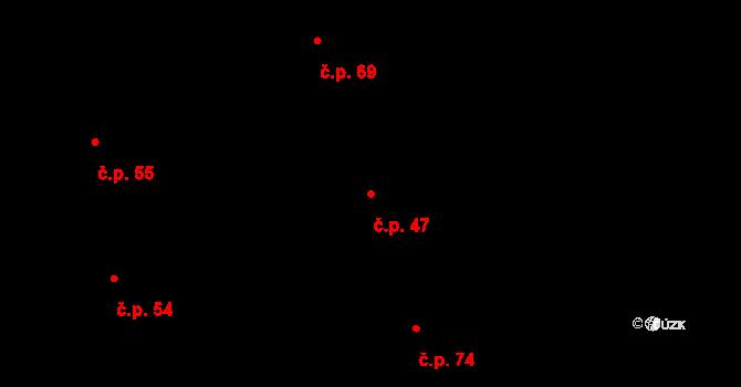 Salaš 47, Zlín na parcele st. 45 v KÚ Salaš u Zlína, Katastrální mapa