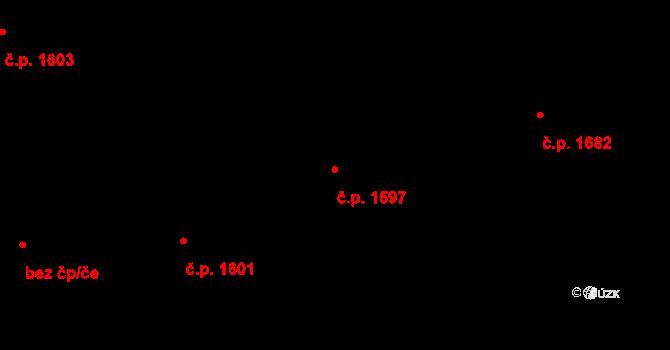 Švermov 1597, Kladno na parcele st. 1134 v KÚ Hnidousy, Katastrální mapa