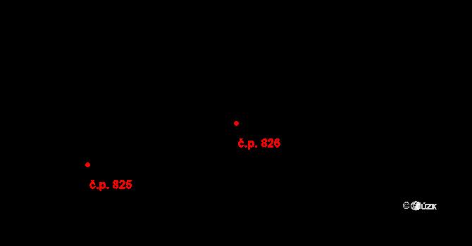 Liberec XII-Staré Pavlovice 826, Liberec na parcele st. 686/42 v KÚ Staré Pavlovice, Katastrální mapa