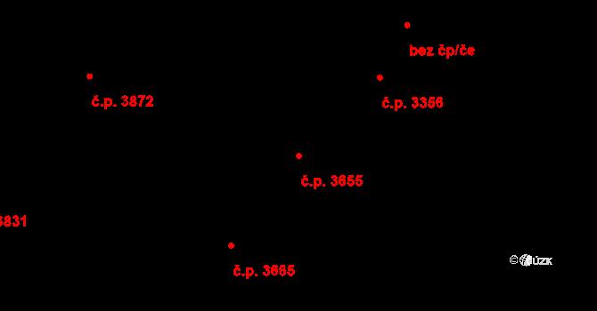 Zlín 3655 na parcele st. 3991 v KÚ Zlín, Katastrální mapa