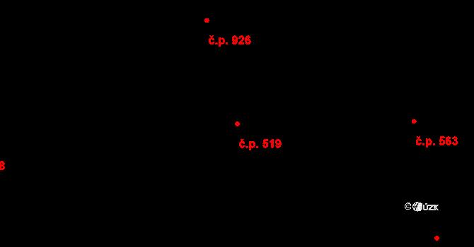 Bolatice 519 na parcele st. 1162 v KÚ Bolatice, Katastrální mapa