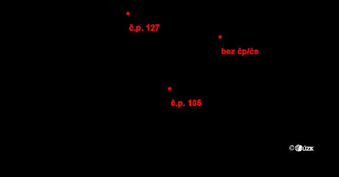 Doubrava 105, Aš na parcele st. 124 v KÚ Doubrava u Aše, Katastrální mapa