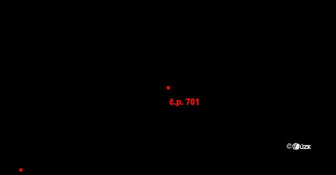 Sokolov 701 na parcele st. 2452 v KÚ Sokolov, Katastrální mapa