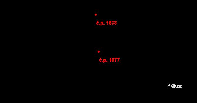 Bílé Předměstí 1877, Pardubice na parcele st. 10789 v KÚ Pardubice, Katastrální mapa