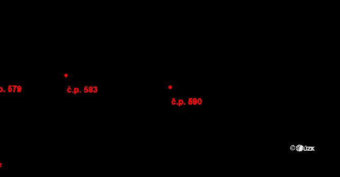 Mladcová 590, Zlín na parcele st. 1018 v KÚ Mladcová, Katastrální mapa