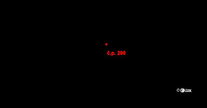 Dolní Počernice 290, Praha na parcele st. 16 v KÚ Dolní Počernice, Katastrální mapa