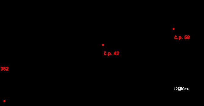 Vysočany 42, Praha na parcele st. 216/12 v KÚ Vysočany, Katastrální mapa