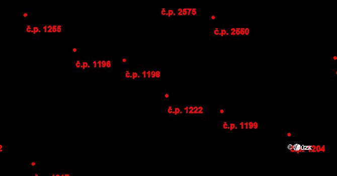 Vinohrady 1222, Praha na parcele st. 533/1 v KÚ Vinohrady, Katastrální mapa