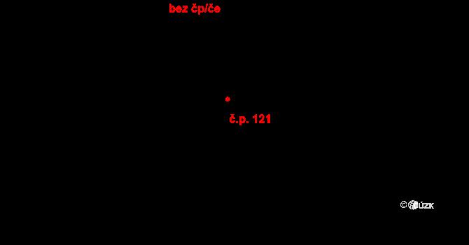 Hrotovice 121 na parcele st. 813 v KÚ Hrotovice, Katastrální mapa