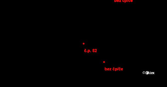 Kuklík 82 na parcele st. 116 v KÚ Kuklík, Katastrální mapa