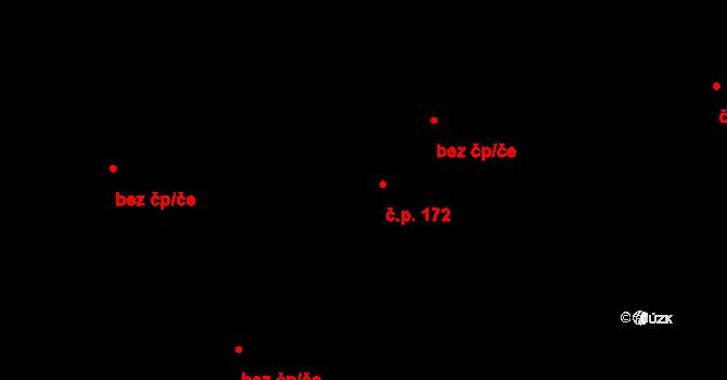 Mistrovice 172 na parcele st. 236/2 v KÚ Mistrovice nad Orlicí, Katastrální mapa