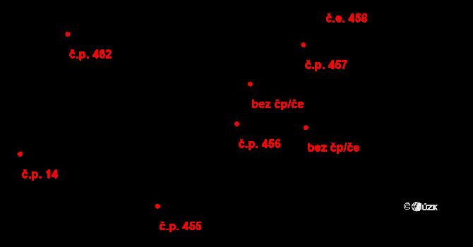 Lednice 456 na parcele st. 491 v KÚ Lednice na Moravě, Katastrální mapa