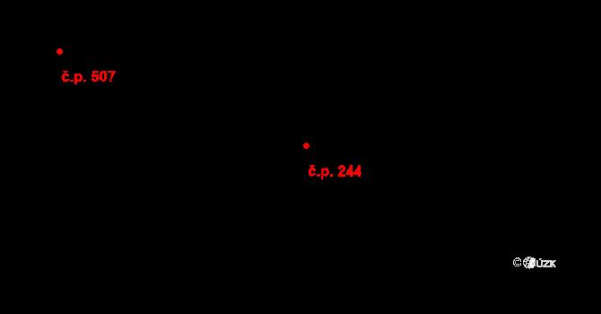 Kamenický Šenov 244 na parcele st. 227/1 v KÚ Kamenický Šenov, Katastrální mapa