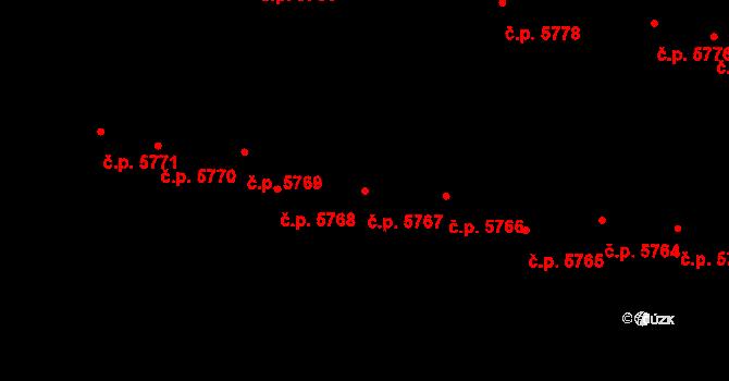Jihlava 5767 na parcele st. 1074/55 v KÚ Jihlava, Katastrální mapa