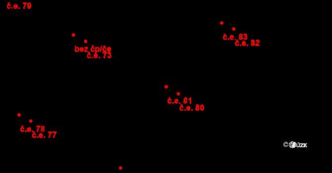 Malé Březno 81 na parcele st. 268/4 v KÚ Malé Březno, Katastrální mapa