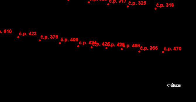 Horka-Domky 426, Třebíč na parcele st. 1384 v KÚ Třebíč, Katastrální mapa