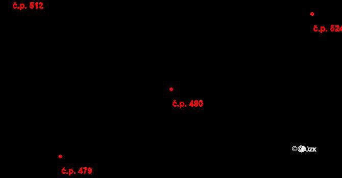 Lelekovice 480 na parcele st. 1061/14 v KÚ Lelekovice, Katastrální mapa