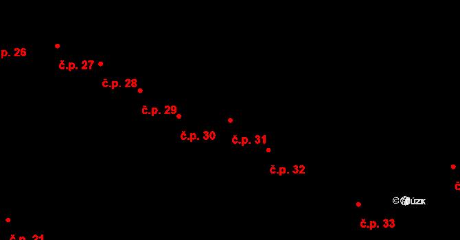 Klimkovice 31 na parcele st. 538 v KÚ Klimkovice, Katastrální mapa
