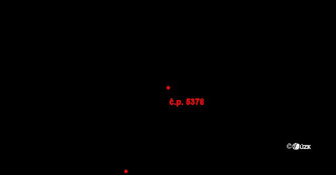 Zlín 5378 na parcele st. 8648 v KÚ Zlín, Katastrální mapa