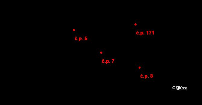 Hudcov 7, Teplice na parcele st. 58 v KÚ Hudcov, Katastrální mapa