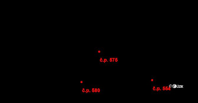 Mladcová 575, Zlín na parcele st. 1006 v KÚ Mladcová, Katastrální mapa