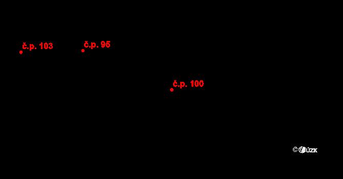 Rakovice 100 na parcele st. 112 v KÚ Rakovice, Katastrální mapa