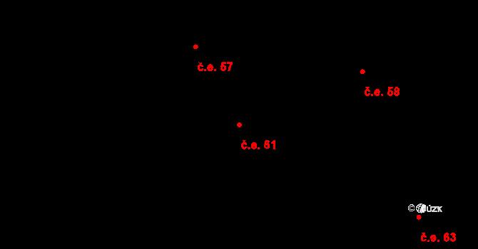 Děhylov 61 na parcele st. 282/2 v KÚ Děhylov, Katastrální mapa