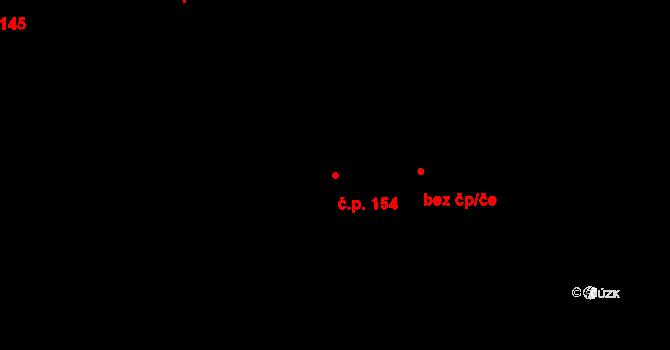 Nová Ves 154 na parcele st. 163/1 v KÚ Nová Ves u Nelahozevsi, Katastrální mapa