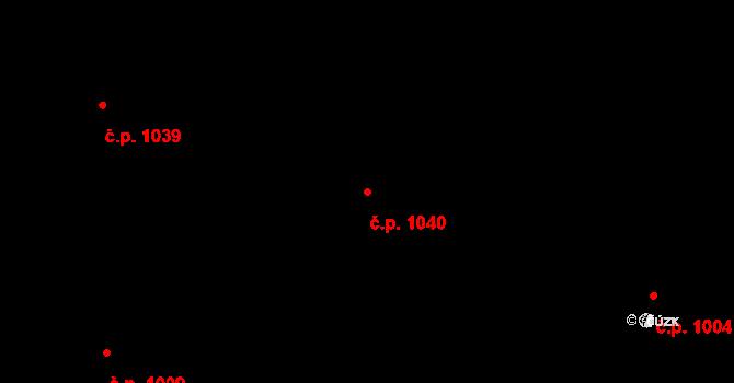 Stonava 1040 na parcele st. 851 v KÚ Stonava, Katastrální mapa