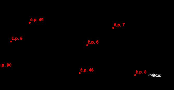 Bolešiny 6 na parcele st. 10 v KÚ Bolešiny, Katastrální mapa