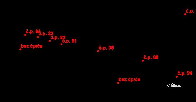 Rovná 95 na parcele st. 140 v KÚ Rovná u Strakonic, Katastrální mapa