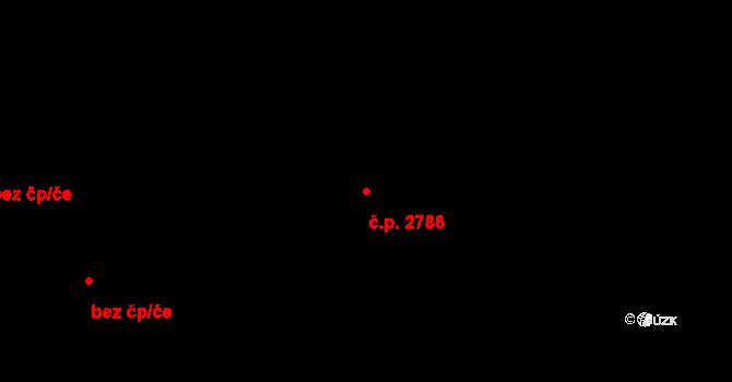 Kročehlavy 2786, Kladno na parcele st. 3330/27 v KÚ Kročehlavy, Katastrální mapa