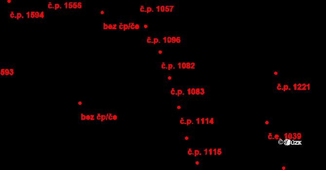 Aš 1083 na parcele st. 1215 v KÚ Aš, Katastrální mapa