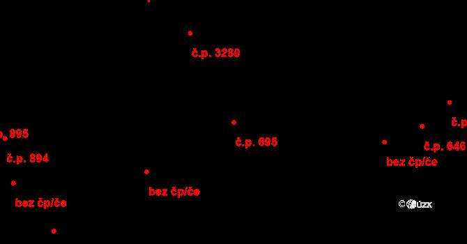 Kročehlavy 695, Kladno na parcele st. 5080 v KÚ Kročehlavy, Katastrální mapa
