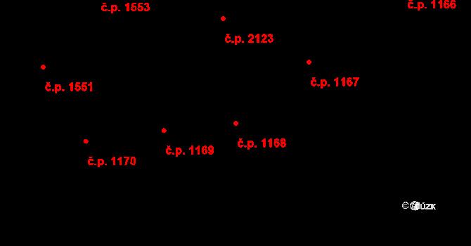 Nové Město 1168, Praha na parcele st. 266/1 v KÚ Nové Město, Katastrální mapa