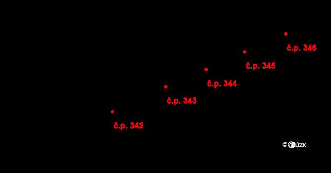 Holešovice 343, Praha na parcele st. 2101 v KÚ Holešovice, Katastrální mapa