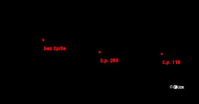 Trnová 260, Pardubice na parcele st. 390 v KÚ Trnová, Katastrální mapa