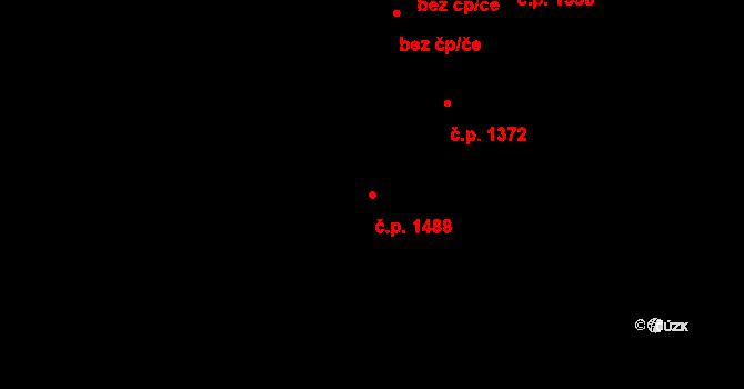 Radvanice 1488, Ostrava na parcele st. 1110/2 v KÚ Radvanice, Katastrální mapa