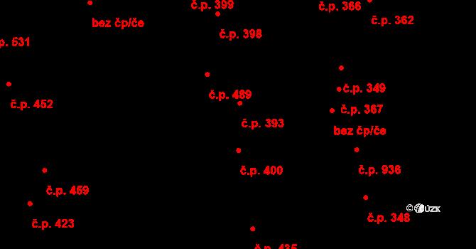 Bílovice nad Svitavou 393 na parcele st. 362 v KÚ Bílovice nad Svitavou, Katastrální mapa