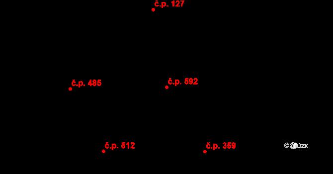 Kudlov 592, Zlín na parcele st. 926 v KÚ Kudlov, Katastrální mapa