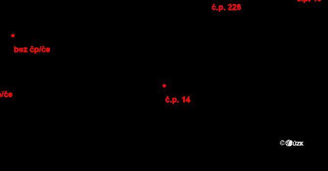 Plavsko 14 na parcele st. 55/1 v KÚ Plavsko, Katastrální mapa