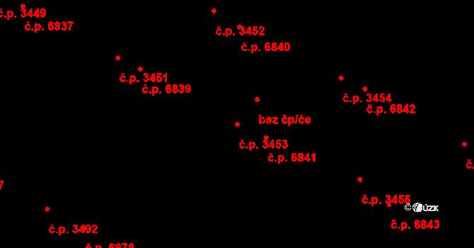 Zlín 3453 na parcele st. 4092/1 v KÚ Zlín, Katastrální mapa