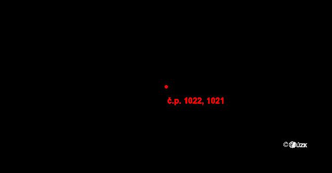 Most 1021,1022 na parcele st. 4940/20 v KÚ Most II, Katastrální mapa