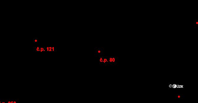 Dlouhá Třebová 80 na parcele st. 399 v KÚ Dlouhá Třebová, Katastrální mapa