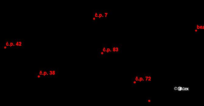 Sedlejov 83 na parcele st. 7/2 v KÚ Sedlejov, Katastrální mapa